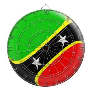 Dartboard with 6 darts Saint Kitts & Nevis flag