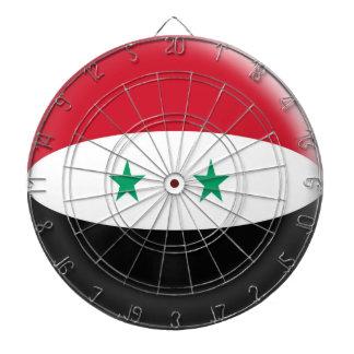 Dartboard with 6 darts Syria Syrian flag