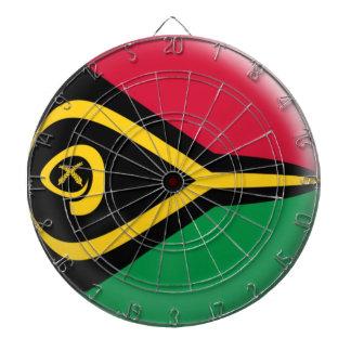 Dartboard with 6 darts Vanuatu flag