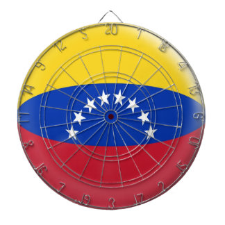 Dartboard with 6 darts Venezuela Venezuelan flag