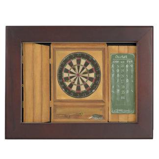 Dartboard with Cricket Scoring Keepsake Box