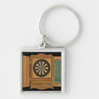 Dartboard with Cricket Scoring Key Ring
