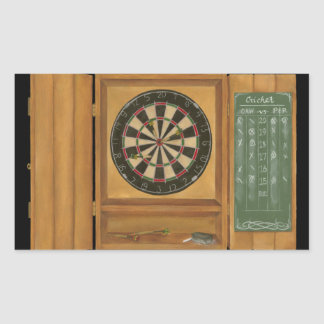Dartboard with Cricket Scoring Rectangular Sticker
