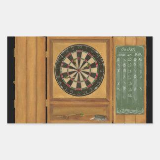 Dartboard with Cricket Scoring Rectangular Sticker