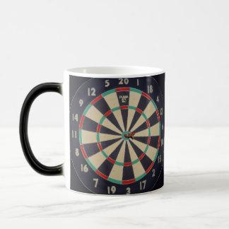 Dartboard With Dart In Bullseye, Magic Mug