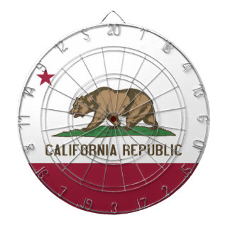 Dartboard with Flag of California, USA