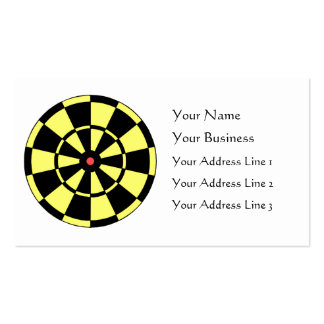 Dartboard Yellow Black Red Bullseye Double-Sided Standard Business Cards (Pack Of 100)