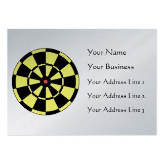 Dartboard Yellow Black Red Bullseye Large Business Cards (Pack Of 100)