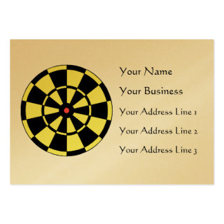 Dartboard Yellow Black Red Bullseye Chubby Card Large Business Cards (Pack Of 100)