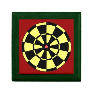 Dartboard Yellow Black Red Bullseye Small Square Gift Box