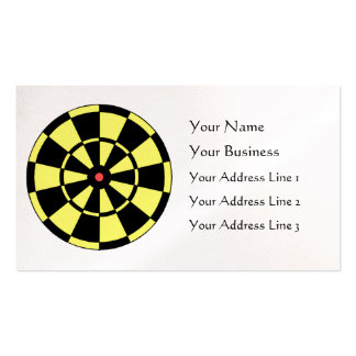 Dartboard Yellow Black Red Bullseye Pearl Business Double-Sided Standard Business Cards (Pack Of 100)