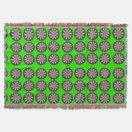 Dartboards On Green, Throw Blanket