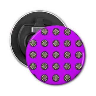 Dartboards Pattern Purple Magnetic Bottle Opener