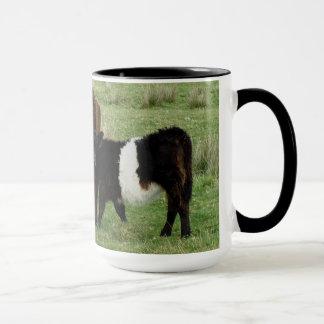 Dartmoor Belted Galloway Cow And Calf Mug