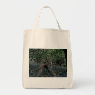 Dartmoor Drewsteignton Blue Bell Woods Grocery Tote Bag
