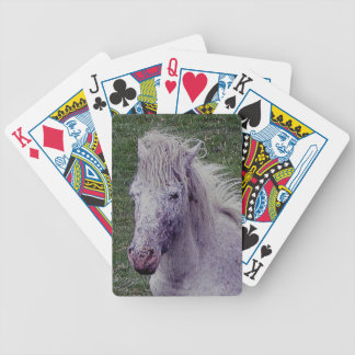 Dartmoor  Grey tPony Mare Resting Bicycle Playing Cards