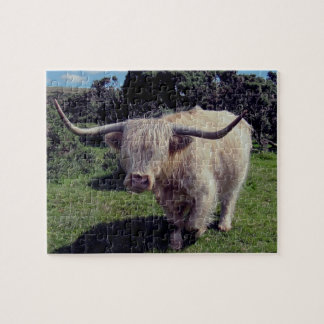 Dartmoor Highland Cow On The Move Jigsaw Puzzle