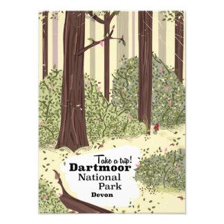 Dartmoor national park, Devon vintage travel Art Photo