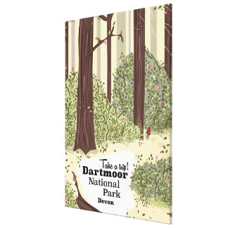 Dartmoor national park, Devon vintage travel Stretched Canvas Prints