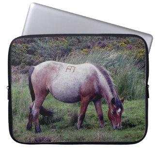 Dartmoor Pony Grazing Early Autumn Laptop Sleeve
