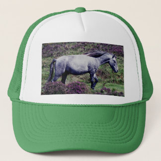 Dartmoor Pony Roaming In The Heather Trucker Hat