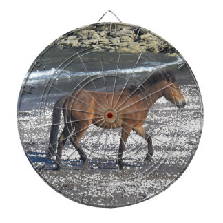 Dartmoor Pony Trotting On Beach Dartboard
