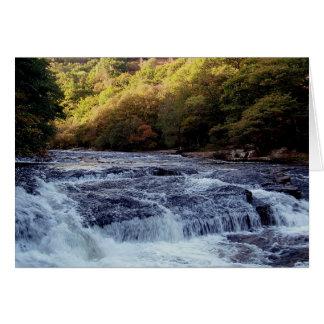 Dartmoor River Dart Vally Rowbrook Autunm Card