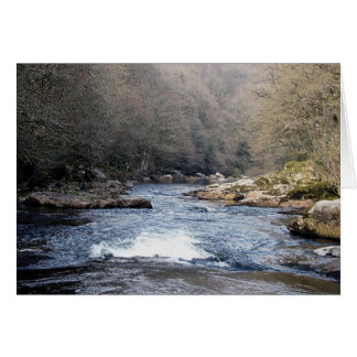 Dartmoor River Dart Vally Rowbrook Early Spring Card