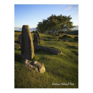 Dartmoor Standing Stones postcard