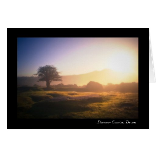 Dartmoor Sunrise, Devon Greeting Card