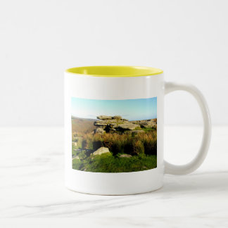 Dartmoor tor in autumn Two-Tone mug