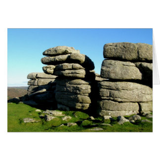 Dartmoor tor rocks card