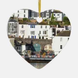 Dartmouth ferry. ceramic heart decoration