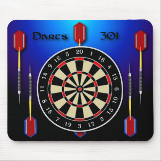 Darts 301 blue mouse mat
