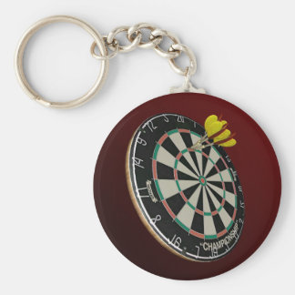 Darts Basic Round Button Key Ring