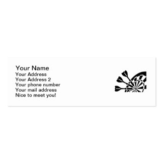Darts board Double-Sided mini business cards (Pack of 20)