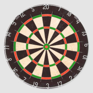 Darts Board Classic Round Sticker