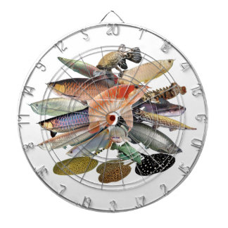 Darts board of large-sized tropical fish dartboard