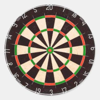 Darts Board Round Sticker