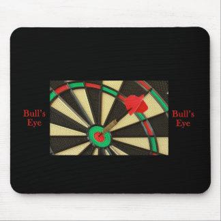 Darts bulls eye mouse pad