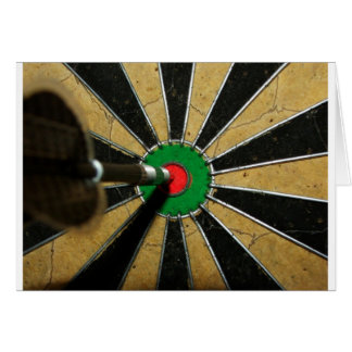 Darts Bullseye Card