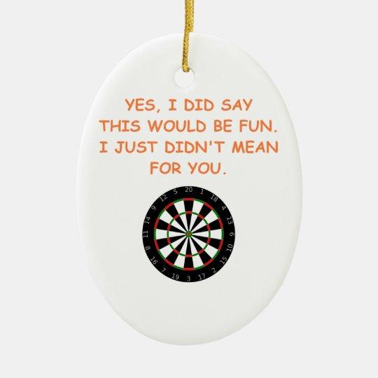 darts christmas ornament