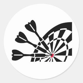 Darts dartboard round stickers