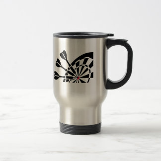 Darts dartboard travel mug