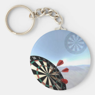 Darts Design Basic Round Button Key Ring