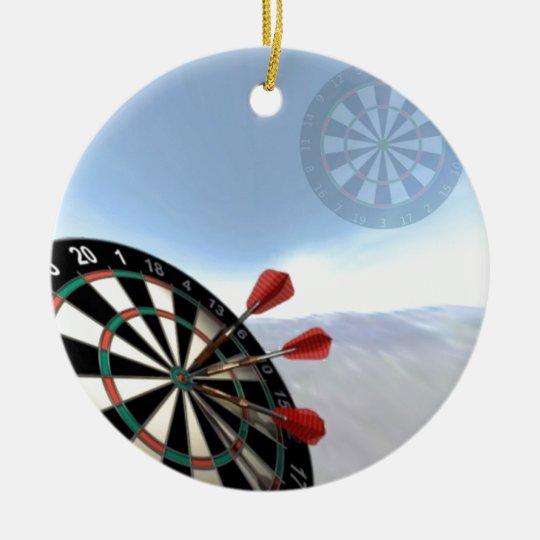 Darts Design Christmas Ornament
