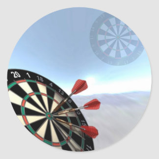 Darts Design Classic Round Sticker