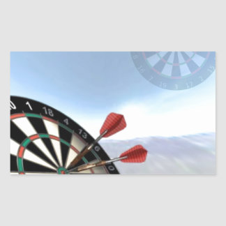 Darts Design Rectangular Sticker
