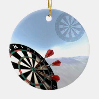 Darts Design Round Ceramic Decoration