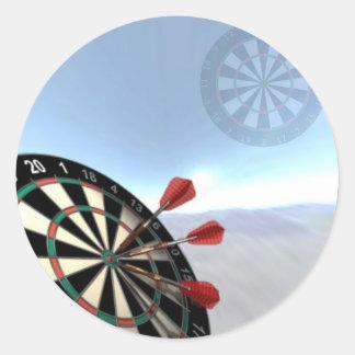 Darts Design Round Sticker
